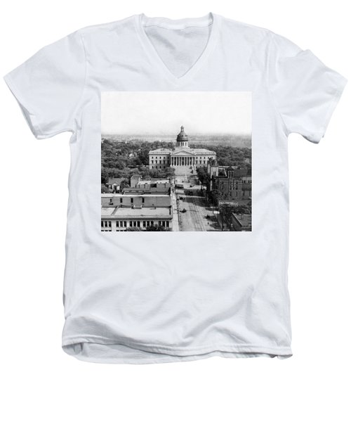 Columbia South Carolina - State Capitol Building - C 1905 Men's V-Neck T-Shirt
