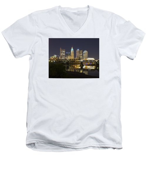Columbus Skyline 2 Men's V-Neck T-Shirt