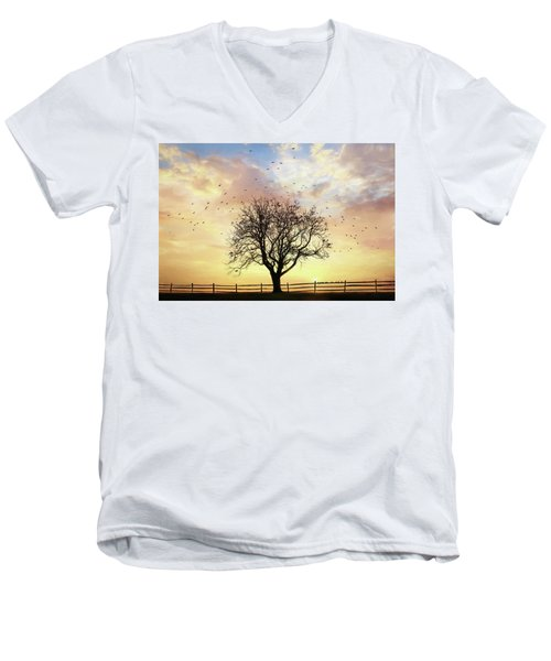 Men's V-Neck T-Shirt featuring the photograph Come Fly Away by Lori Deiter