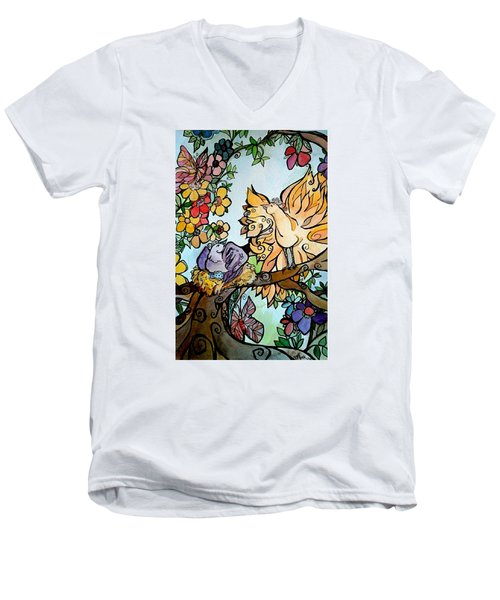 Come Grow Old With Me The Best Is Yet To Be Men's V-Neck T-Shirt by Claudia Cole Meek