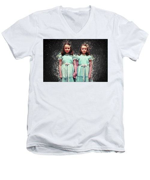 Come Play With Us - The Shining Twins Men's V-Neck T-Shirt