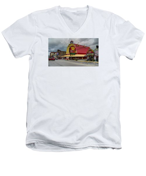 Comedy Barn Pigeon Forge Men's V-Neck T-Shirt