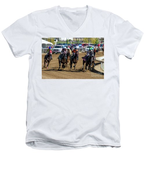 Coming Around The Turn Men's V-Neck T-Shirt