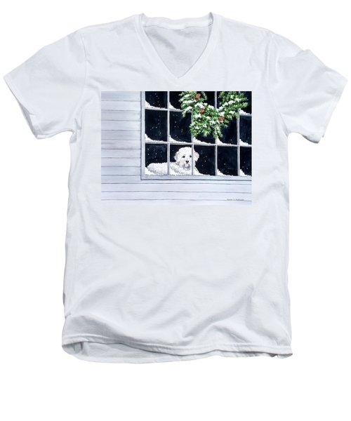 Coming Back Soon? Men's V-Neck T-Shirt