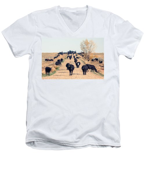 Coming Down The Road Men's V-Neck T-Shirt