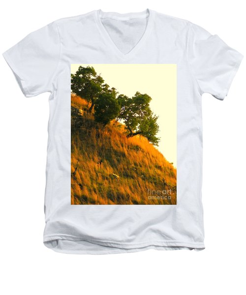 Men's V-Neck T-Shirt featuring the photograph Coming Home Again by Joe Jake Pratt