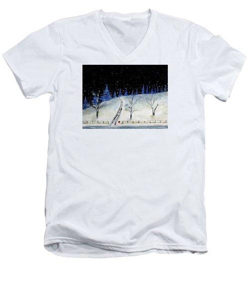 Coming Home For Christmas Men's V-Neck T-Shirt