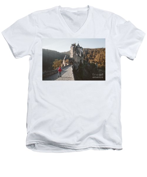 Coming Home Men's V-Neck T-Shirt by JR Photography