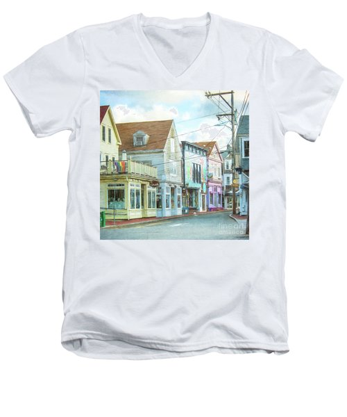 Commercial St #1 Men's V-Neck T-Shirt