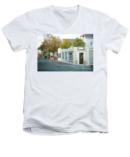 Commercial St. #2 Men's V-Neck T-Shirt