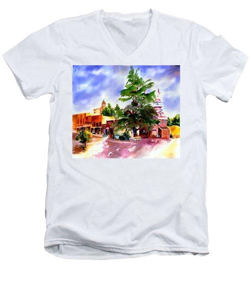 Commercial Street, Old Town Auburn Men's V-Neck T-Shirt