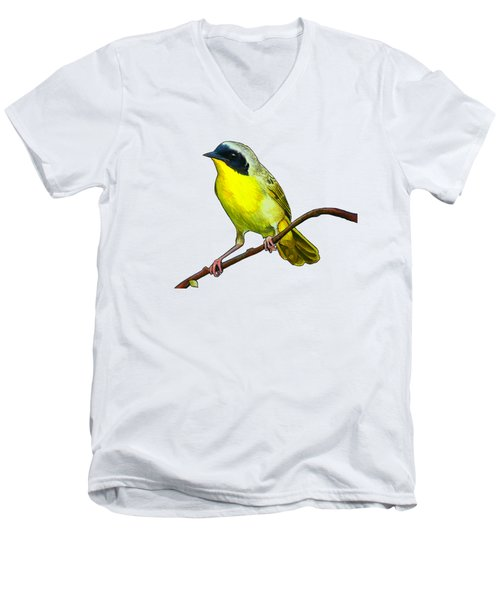Common Yellowthroat Men's V-Neck T-Shirt by Rory Viale