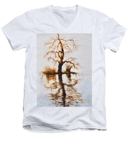 Como Lake Reflections Men's V-Neck T-Shirt