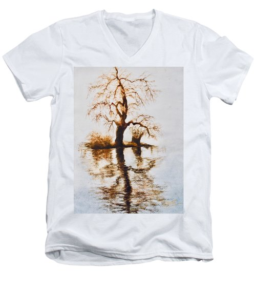 Como Lake Reflections Men's V-Neck T-Shirt