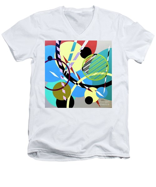 Composition #21 Men's V-Neck T-Shirt
