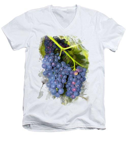 Concord Grape Men's V-Neck T-Shirt by Ivana Westin