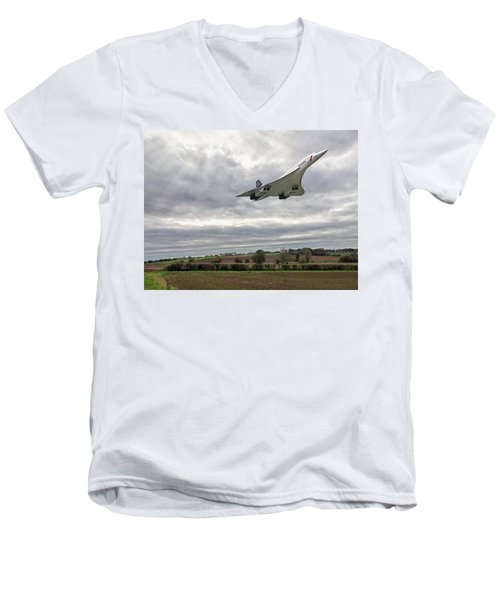 Concorde - High Speed Pass Men's V-Neck T-Shirt by Paul Gulliver