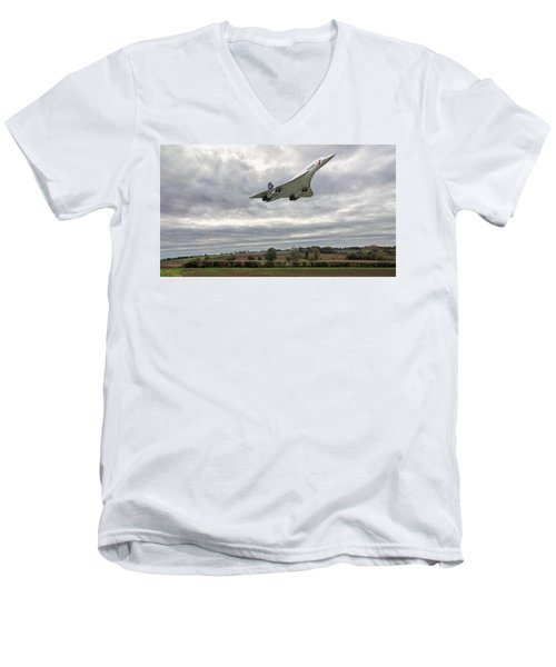 Concorde - High Speed Pass_2 Men's V-Neck T-Shirt by Paul Gulliver