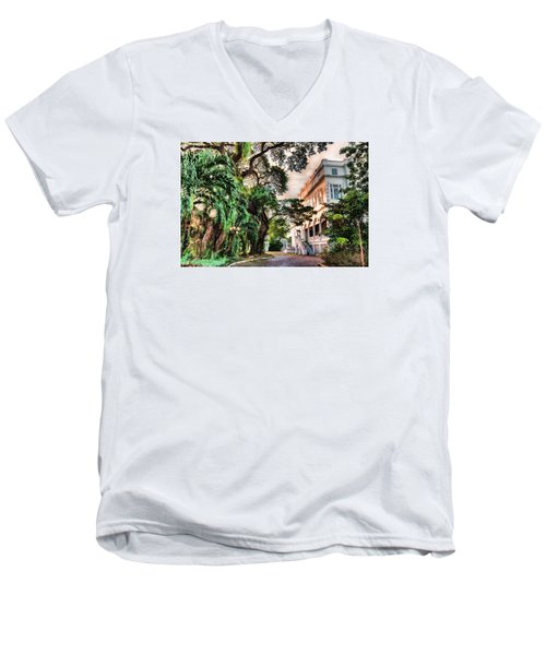 Concrete Jungle Men's V-Neck T-Shirt by Nadia Sanowar