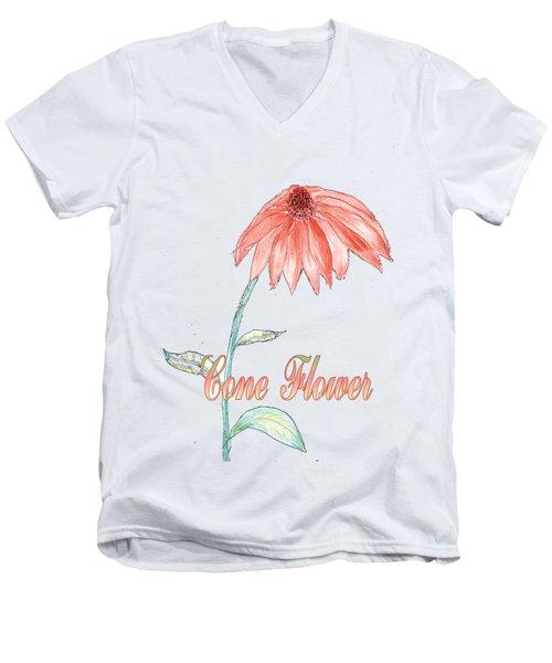 Cone Flower Men's V-Neck T-Shirt