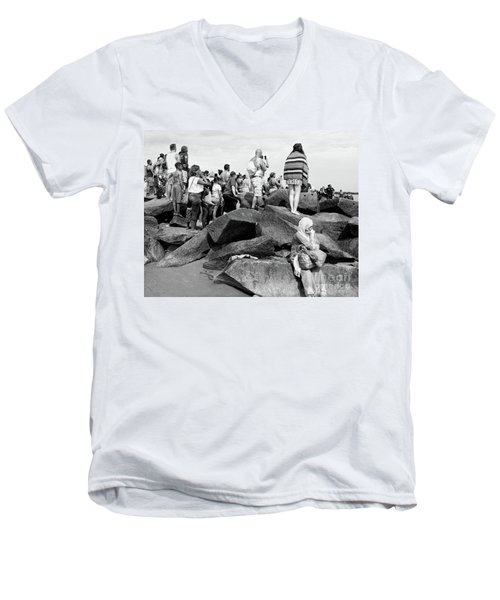 Coney Island, New York  #234972 Men's V-Neck T-Shirt