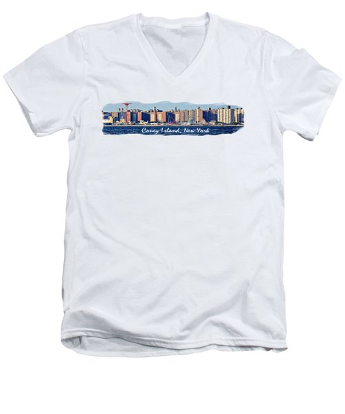Coney Island Ny  Men's V-Neck T-Shirt