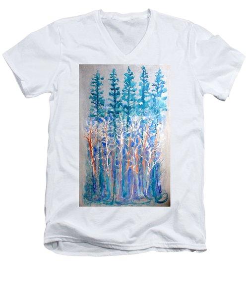 Connected In Indigo Men's V-Neck T-Shirt