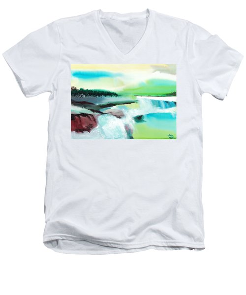 Constructing Reality 1 Men's V-Neck T-Shirt