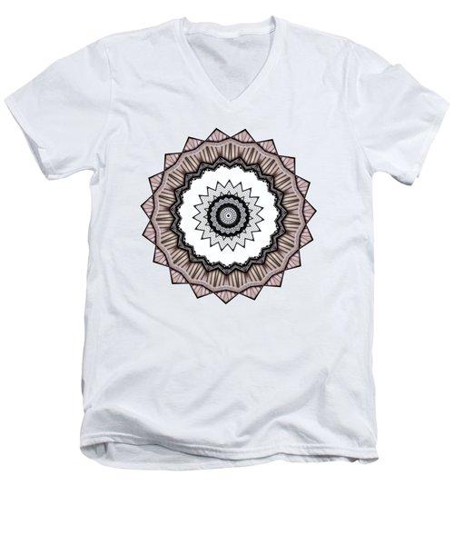 Construction Mandala By Kaye Menner Men's V-Neck T-Shirt by Kaye Menner