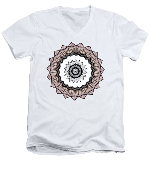 Construction Mandala By Kaye Menner Men's V-Neck T-Shirt