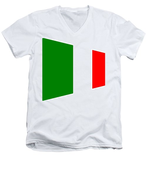 contemporary Italian Flag Men's V-Neck T-Shirt