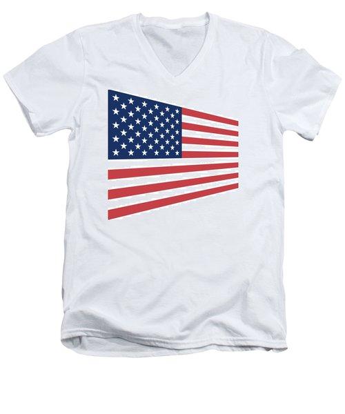 Contemporaryusa Flag Men's V-Neck T-Shirt