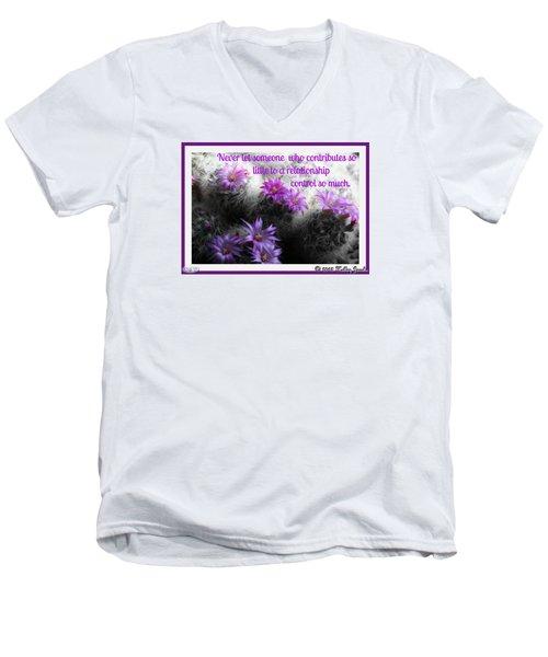 Contributes So Little Men's V-Neck T-Shirt