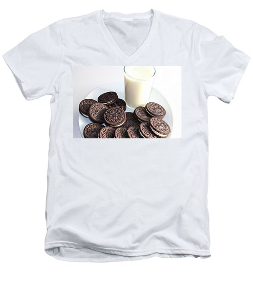 Cookies And Milk Men's V-Neck T-Shirt by Barbara Griffin