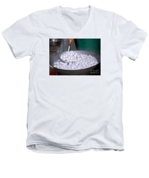 Cooking Chinese Fish Balls Men's V-Neck T-Shirt