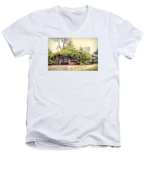 Cop Cot - Central Park Men's V-Neck T-Shirt by Paulette B Wright