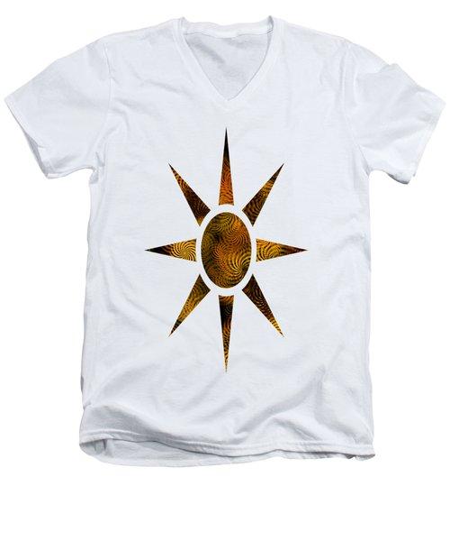Copper Spirals Abstract Square Men's V-Neck T-Shirt