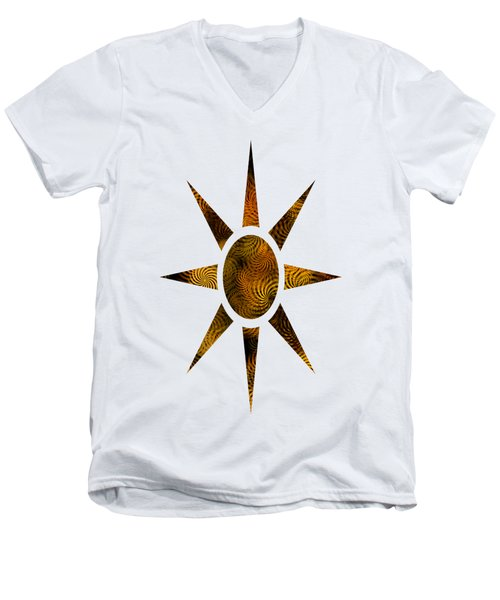 Copper Spirals Abstract Square Men's V-Neck T-Shirt