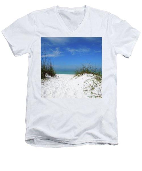 Coquina Dunes Men's V-Neck T-Shirt
