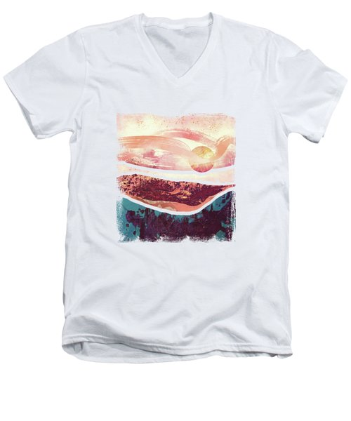 Coral Sky Men's V-Neck T-Shirt