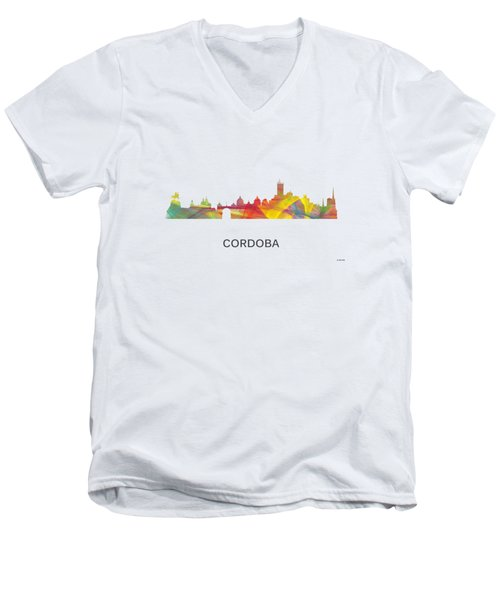 Cordoba Argentina Skyline Men's V-Neck T-Shirt