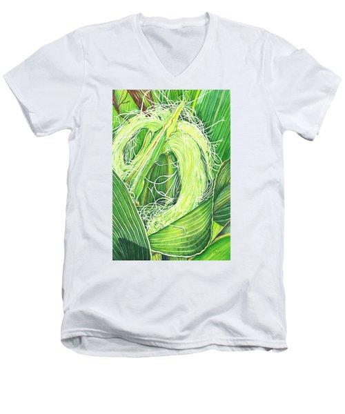 Corn Silk Men's V-Neck T-Shirt