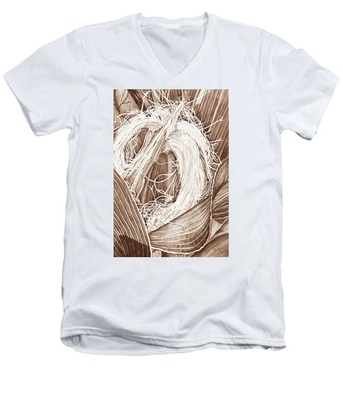 Corn Silk - Neutral Men's V-Neck T-Shirt