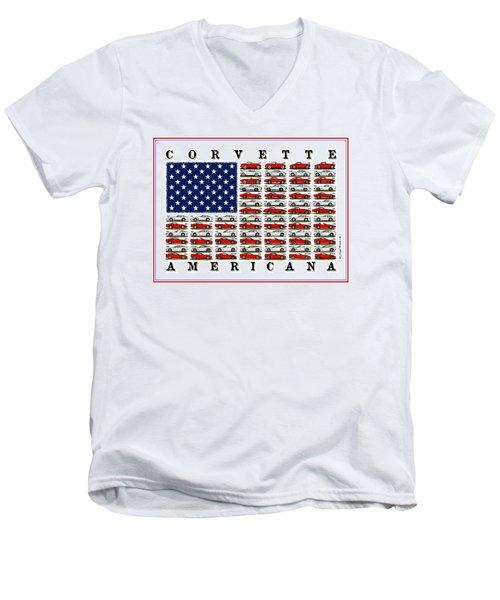 Corvette Americana Men's V-Neck T-Shirt