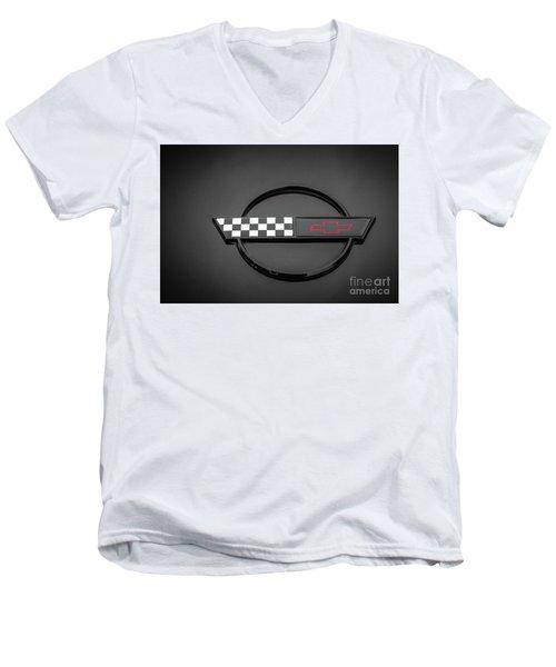 Corvette C4 Hood Ornament Men's V-Neck T-Shirt