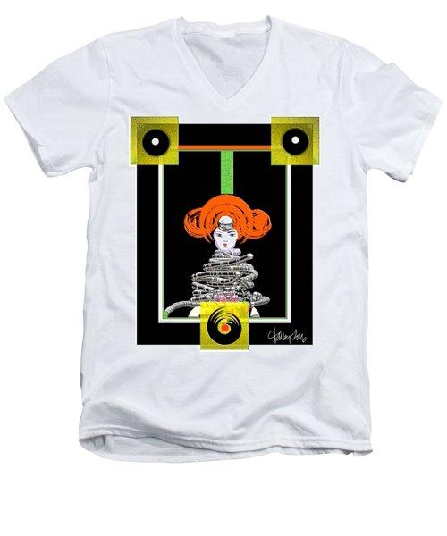 Cosmic Geisha - Close Encounter Men's V-Neck T-Shirt