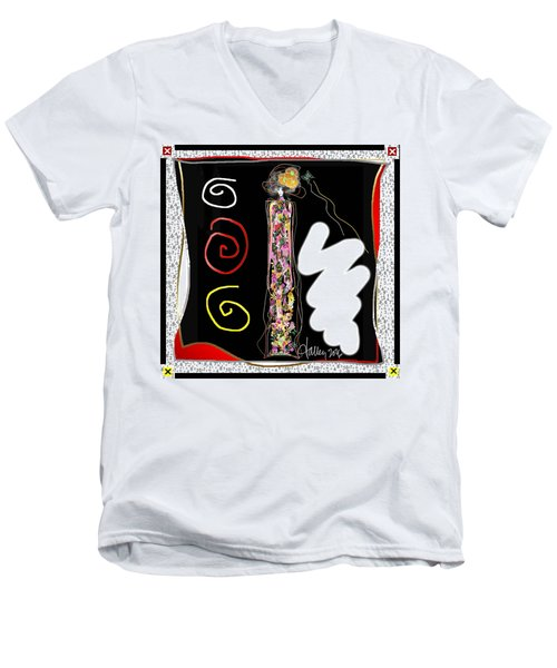 Cosmic Geisha - Trapped In Computational Graffiti  Men's V-Neck T-Shirt