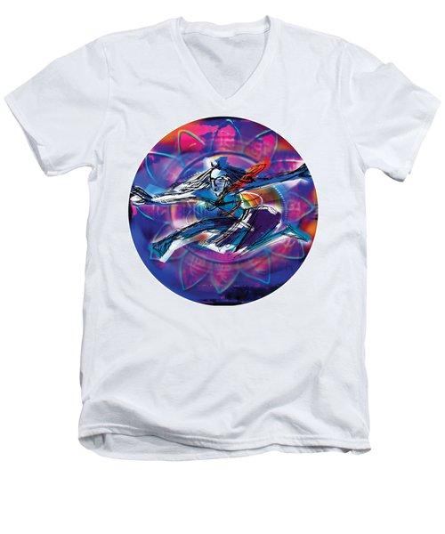 Cosmic Shiva Speed Men's V-Neck T-Shirt