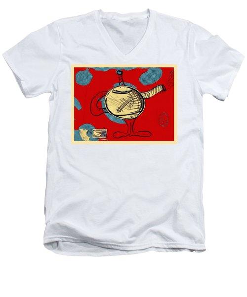 Cosmic Tea Time Men's V-Neck T-Shirt