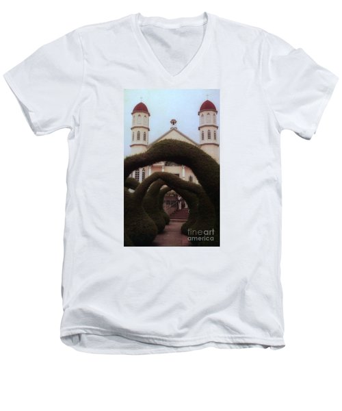 Costra Rica Garden Church Men's V-Neck T-Shirt